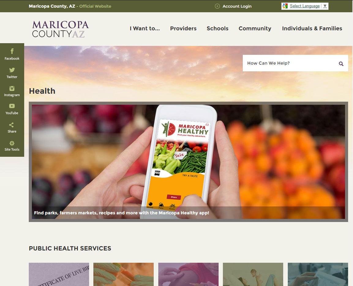 Health Home page