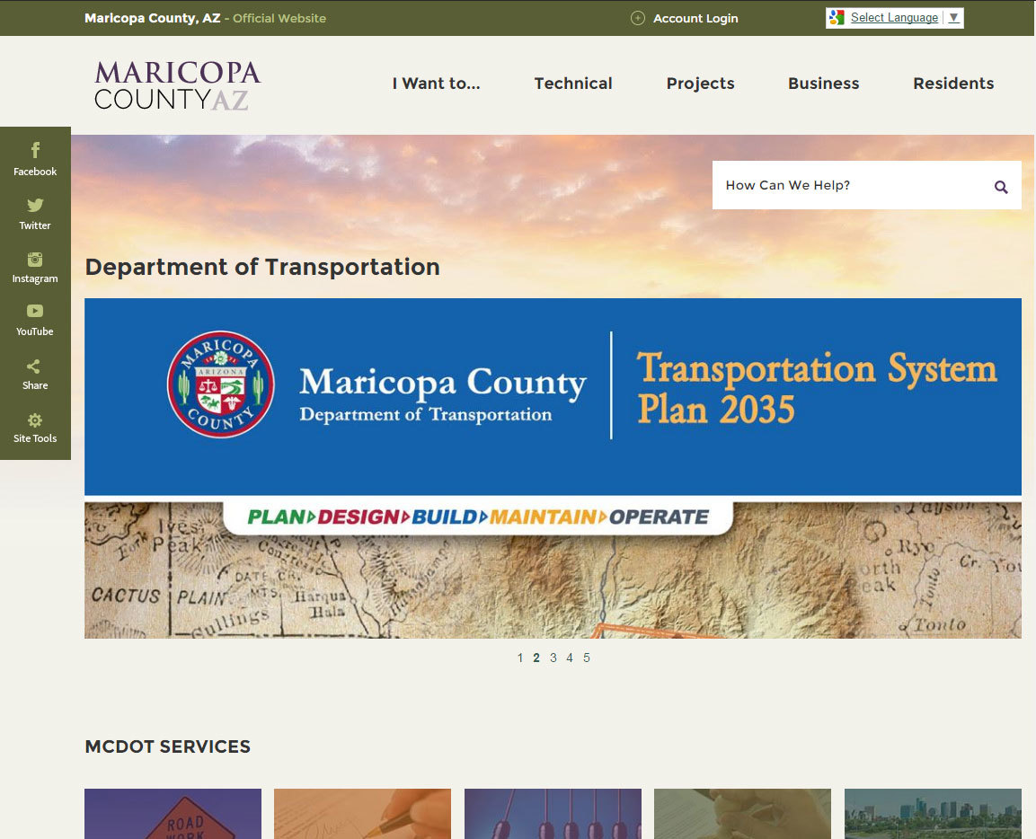 Transportation Home page
