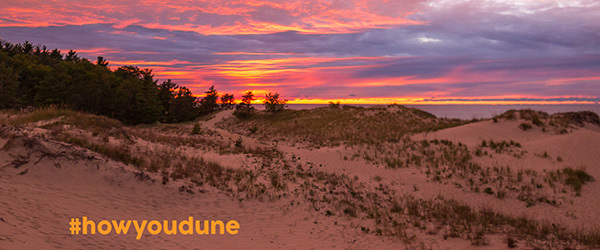sunset over a sand dune