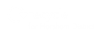 Recycle for Horsham District logo white