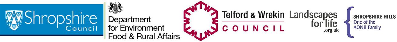 Shropshire Hills AONB footer logos