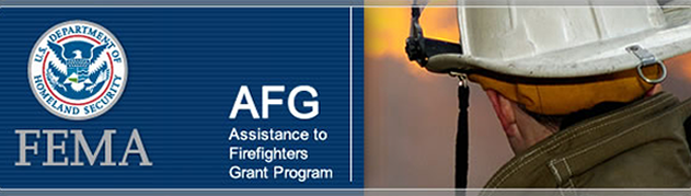 Assistance to Firefighters Grant banner with DHS logo