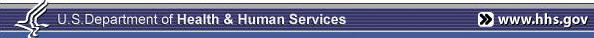 Banner: HHS Logo, www.hhs.gov