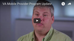 VA Mobile Provider Program video
