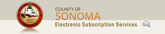 County of Sonoma, Electronic Subscription Services